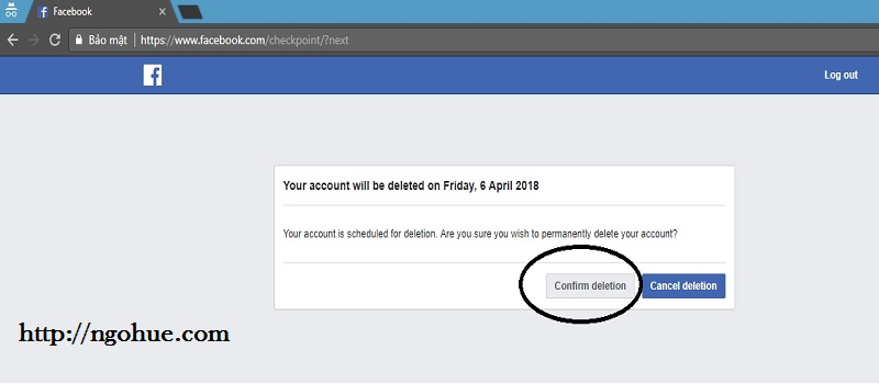 How i can delete account Facebook